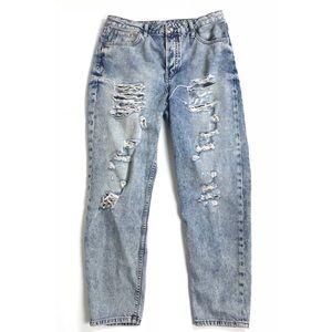 Topshop jeans distressed vintage light washed 30